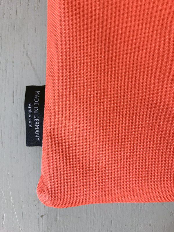 Rücksitztasche Hellgrau und Orange