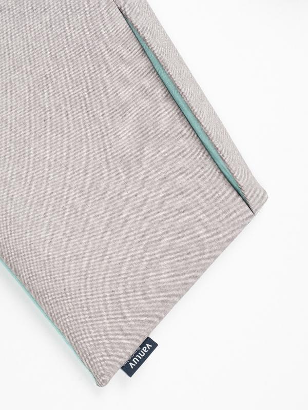 VANLUV Wandtasche in Grau mit Futter in Mint