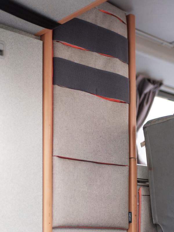 VW Bus Zubehör für den Innenausbau - Hängetaschen mit Wandbefestigung