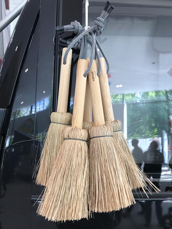 Handfeger Holz & Schilfgrass